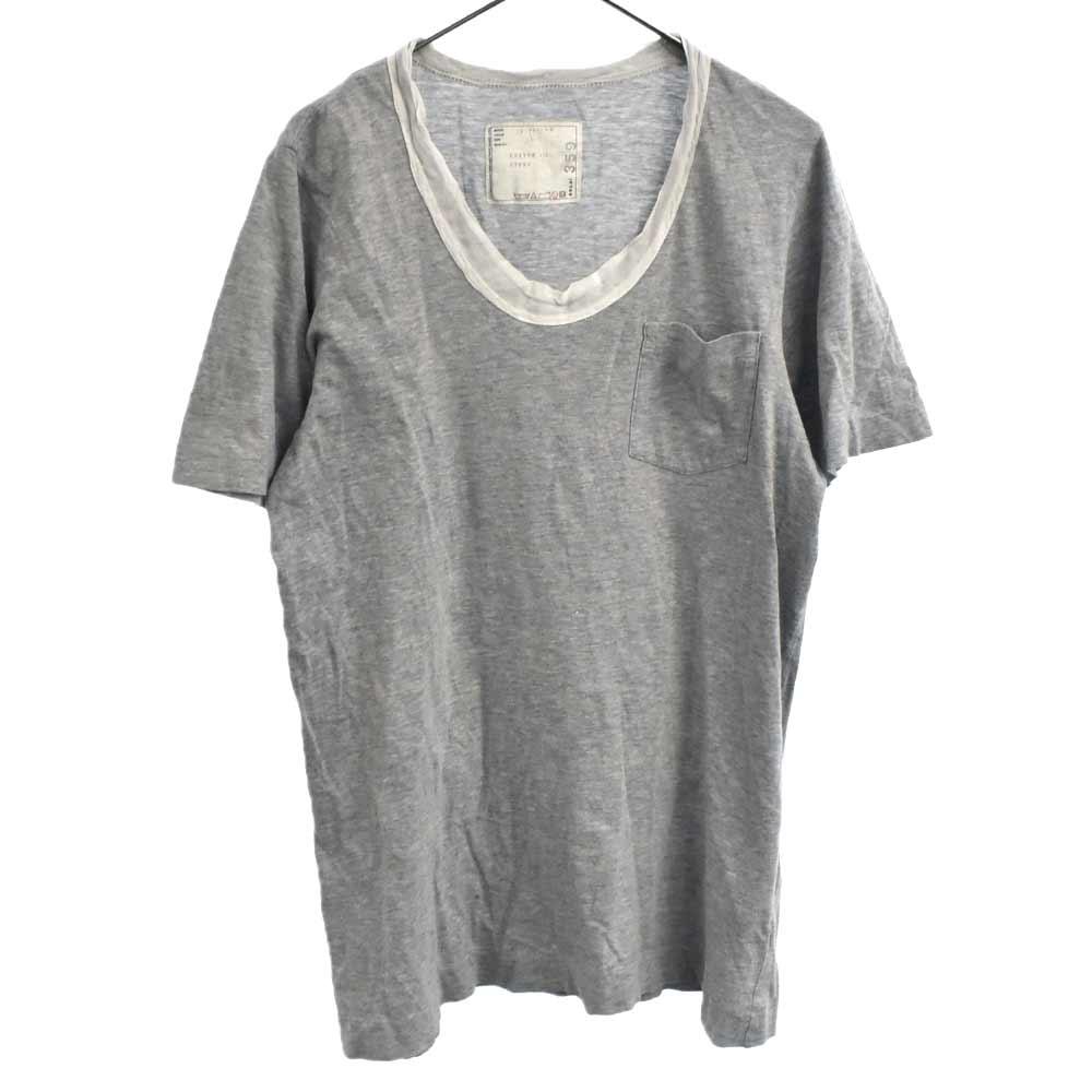 Uネックポケット付き半袖Tシャツ