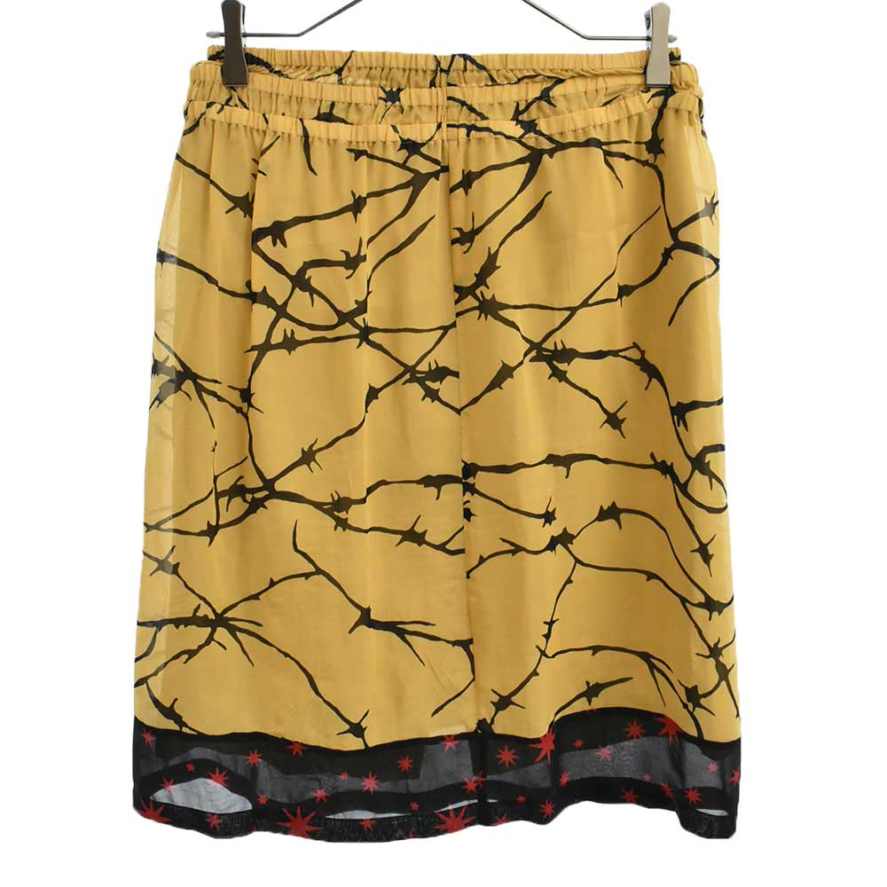 有刺鉄線 茨デザインプリントレイヤードスカート