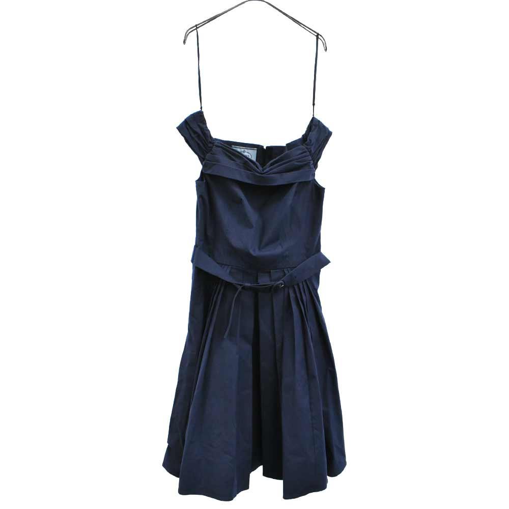 バックジップフレアオフショルダーワンピース ドレス