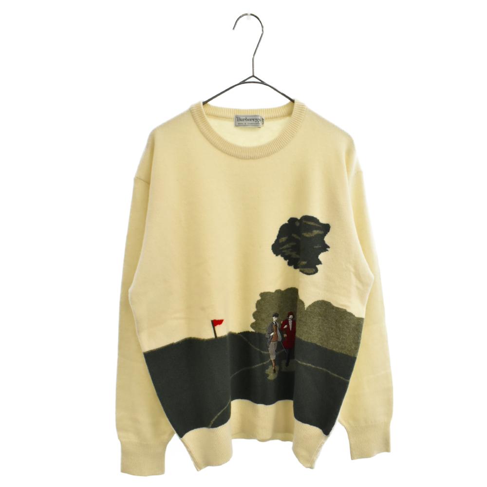 ヴィンテージ クルーネックゴルフカシミアニット セーター