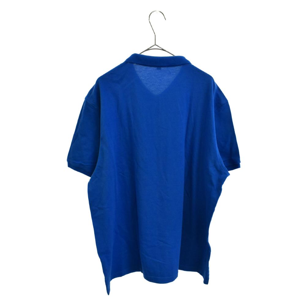 ワンポイント刺繍半袖鹿の子ポロシャツ