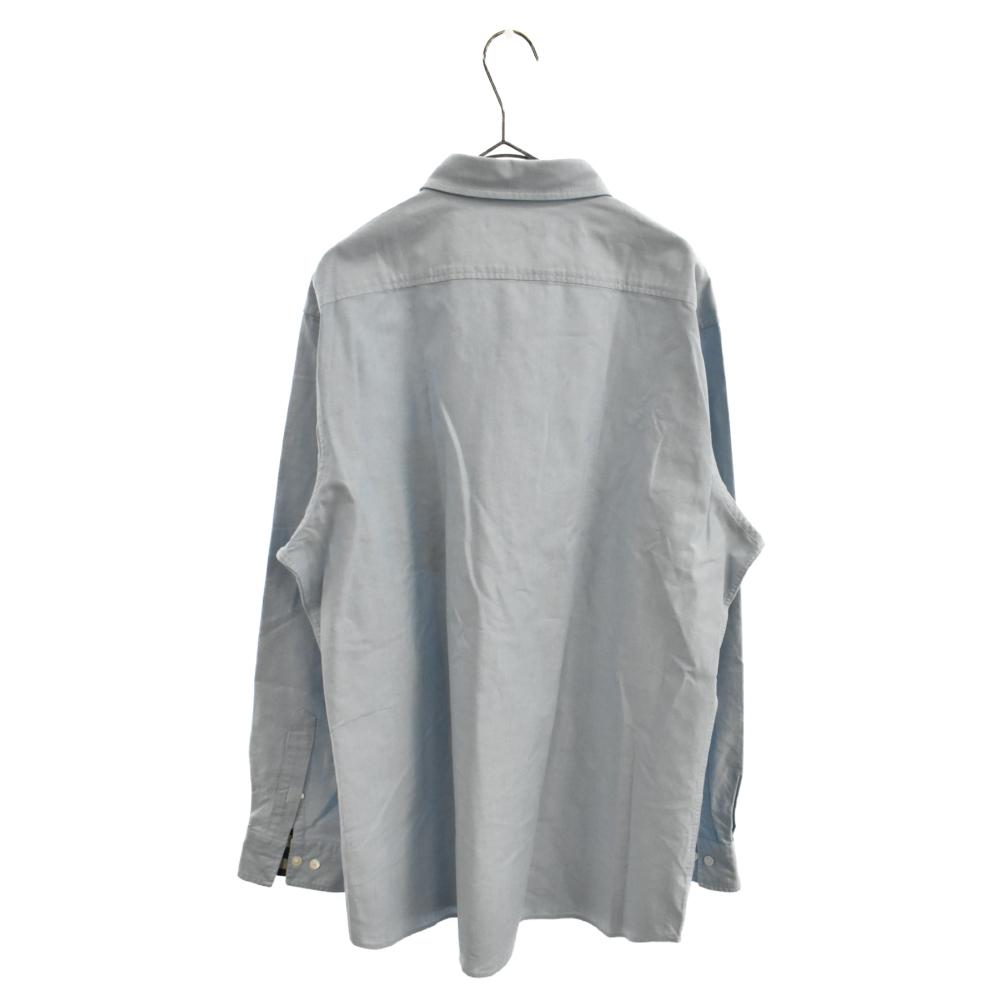 ワンポイント刺繍長袖ボタンダウンシャツ