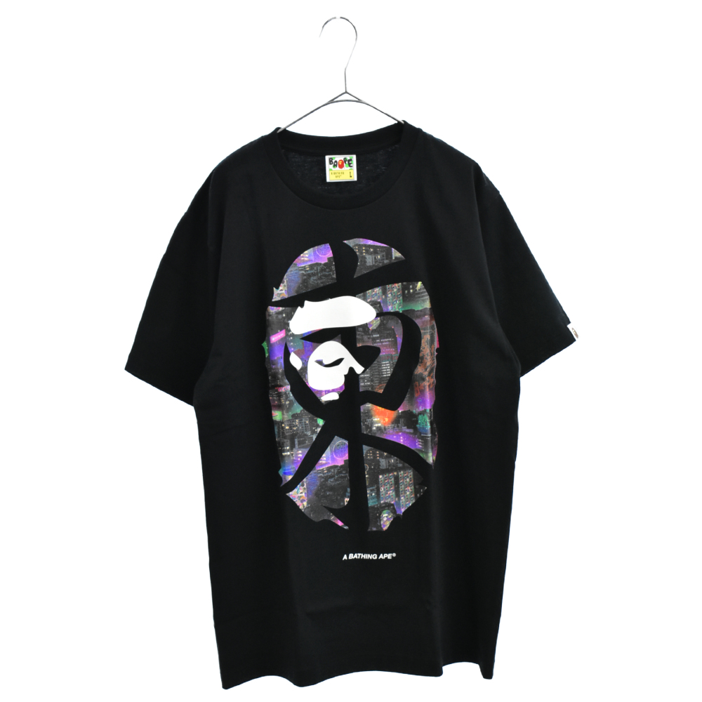NEON TOKYO BIG APE HEAD TEE ネオン東京ビッグサルロゴプリント半袖Tシャツ