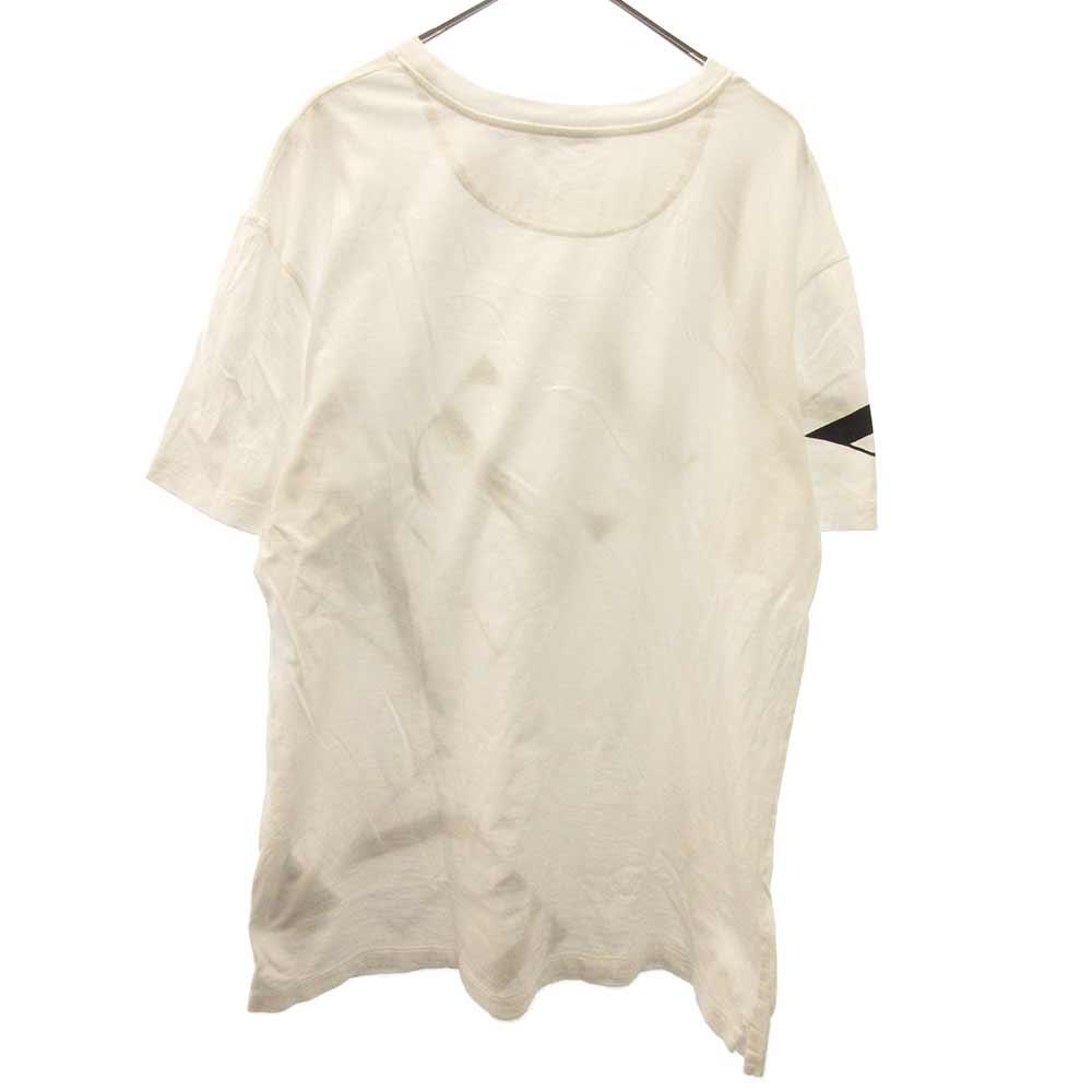 マクロVLTNグリッドクルーネック半袖Tシャツ ロゴカットソー