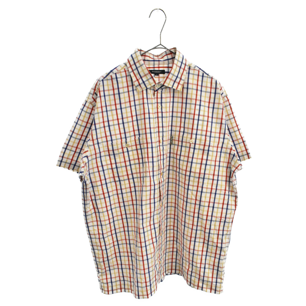 チェック柄半袖シャツ