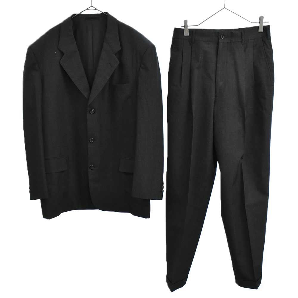 AD1998 セットアップスーツ 3Bテーラードジャケット 2タックウールスラックスパンツ ジャケットL/パンツS