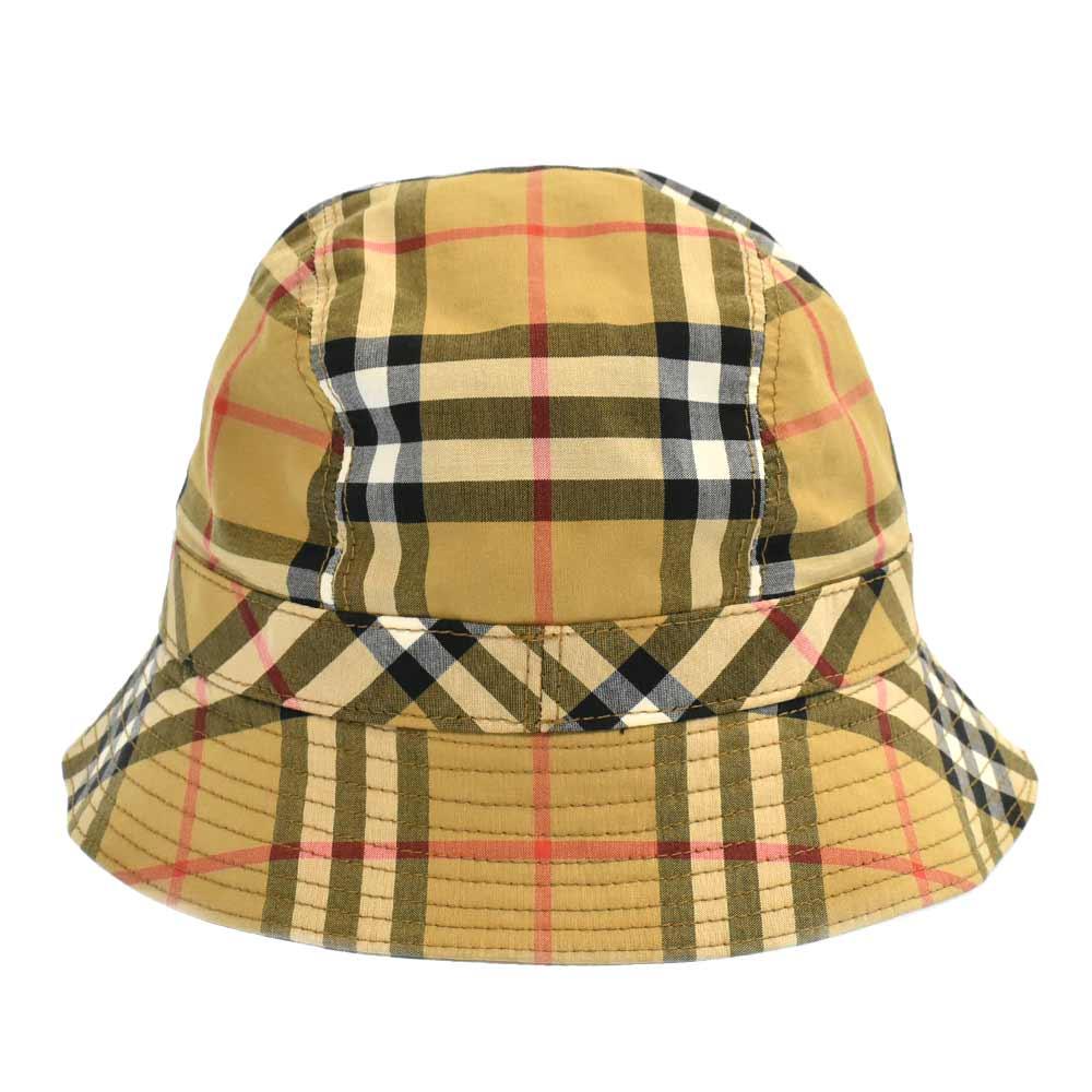 クラシックチェック コットン バケットハット 帽子