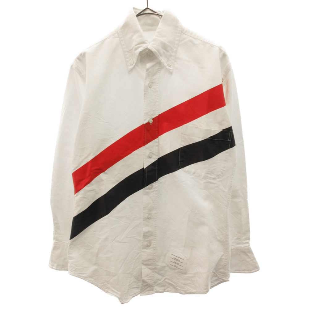 ビック トリコロール ペイントプリント ボタンダウンシャツ