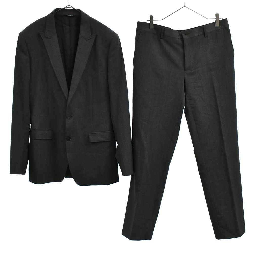 MARTINI セットアップスーツ ピークドラペル2Bテーラードジャケット ノータックスラックスパンツ
