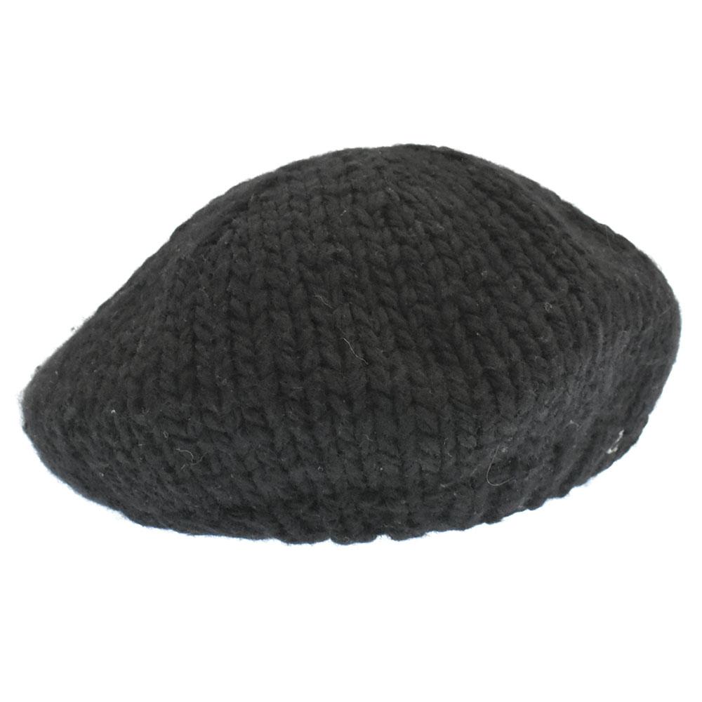 ×KIJIMA TAKAYUKI ワンポイントUロゴニットベレー帽 ハット キジマタカユキ