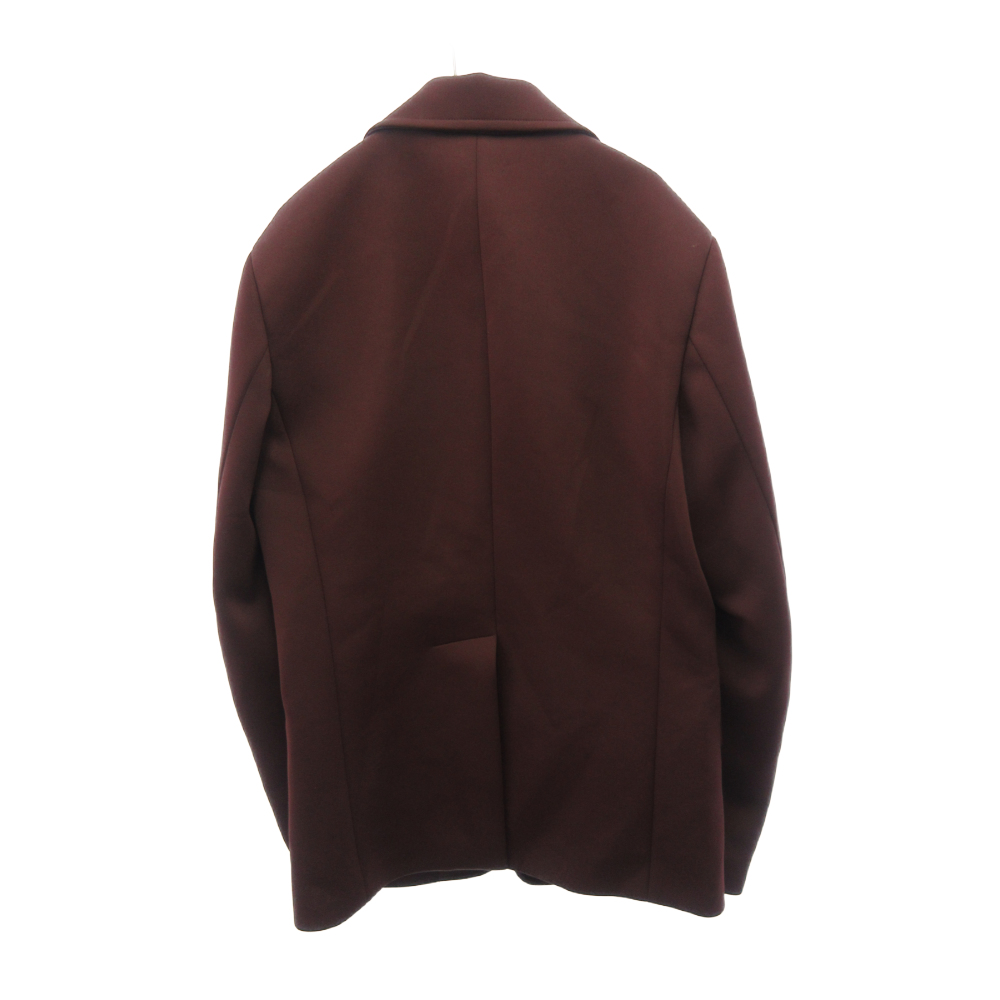 Tecno Jersey ラバーロゴ ジップポケット テーラードジャケット