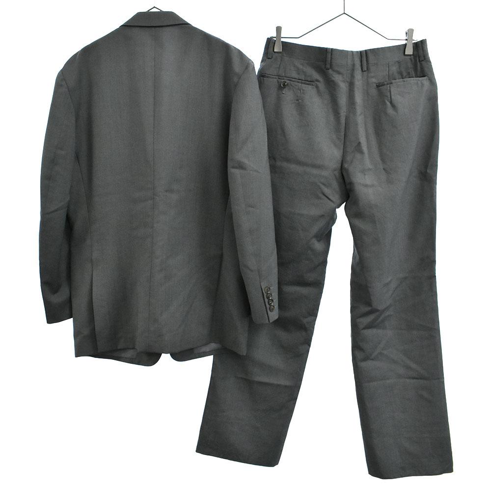 モヘア混セットアップスーツ 2Bテーラードジャケット スラックスパンツ