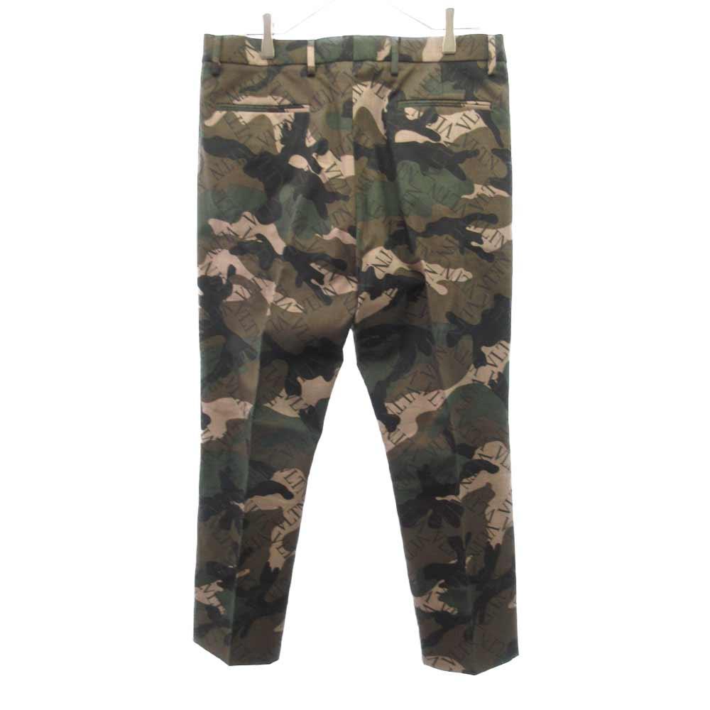 Camouflage Tailored Trousers ロゴ総柄カモフラトラウザースラックスパンツ