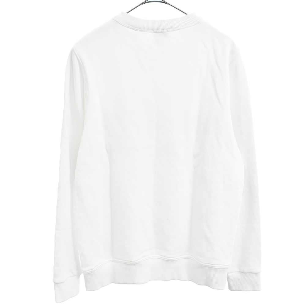 フロントロゴプリントクルーネックプルオーバー スウェットシャツ