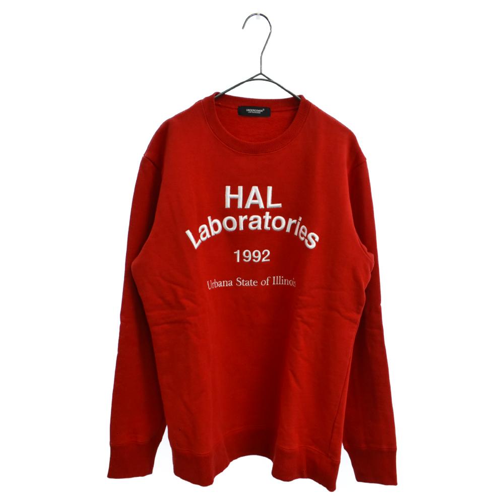 HAL Laboratories フロント刺繍クルーネックスウェットトレーナー