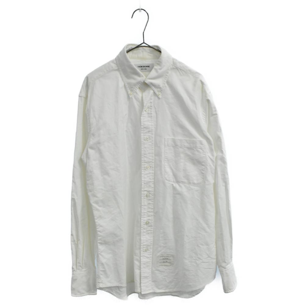 胸ポケット付きオックスフォードロングスリーブシャツ 長袖
