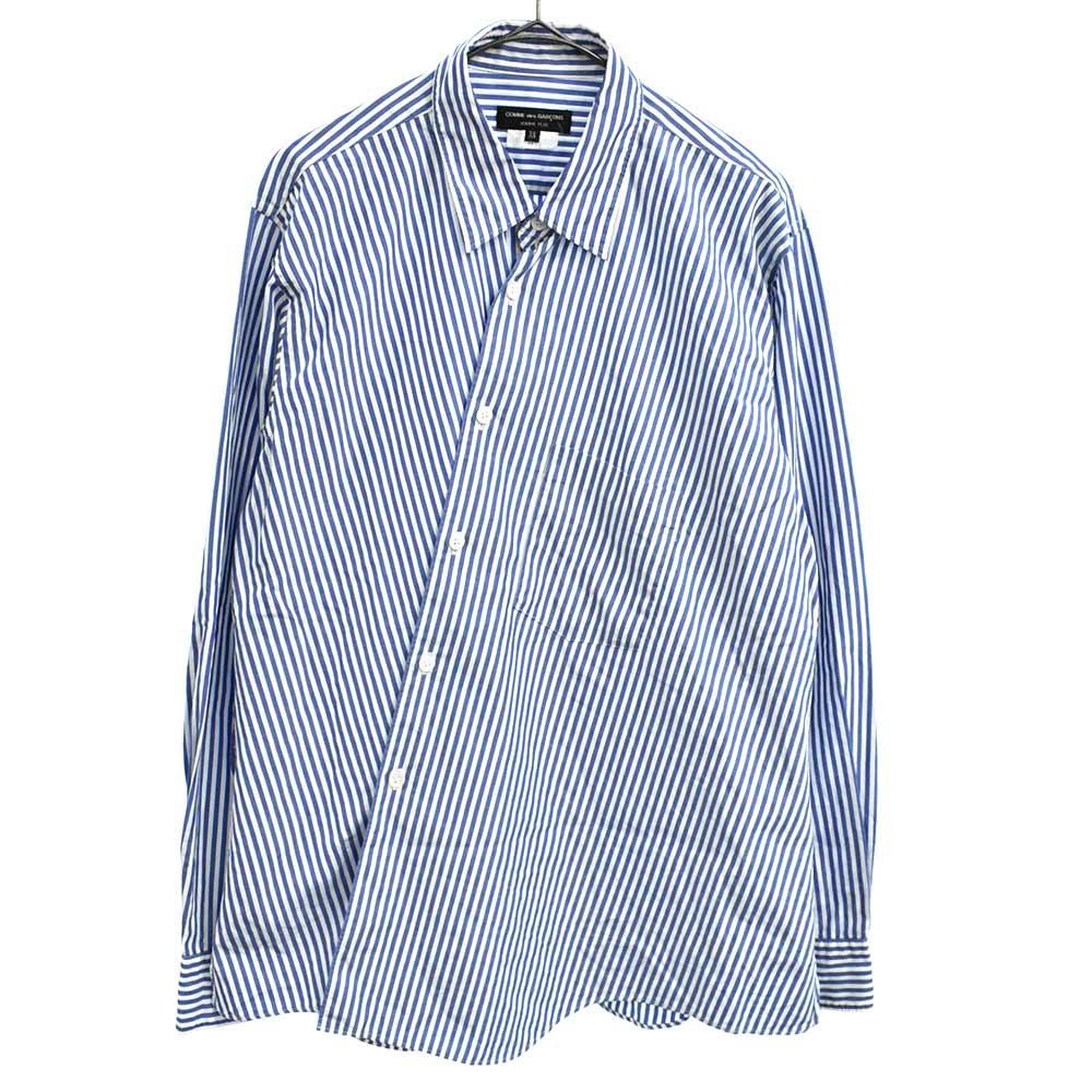 儀式の力期 ストライプ柄ねじれ長袖シャツ