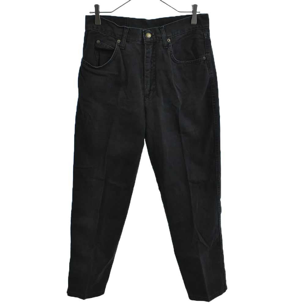 ヴィンテージ バックロゴ刺繍ブラックデニムパンツ