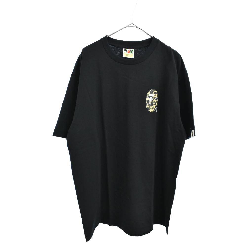 ×A BATHING APE アベイシングエイプ サルカモロゴ半袖Tシャツ