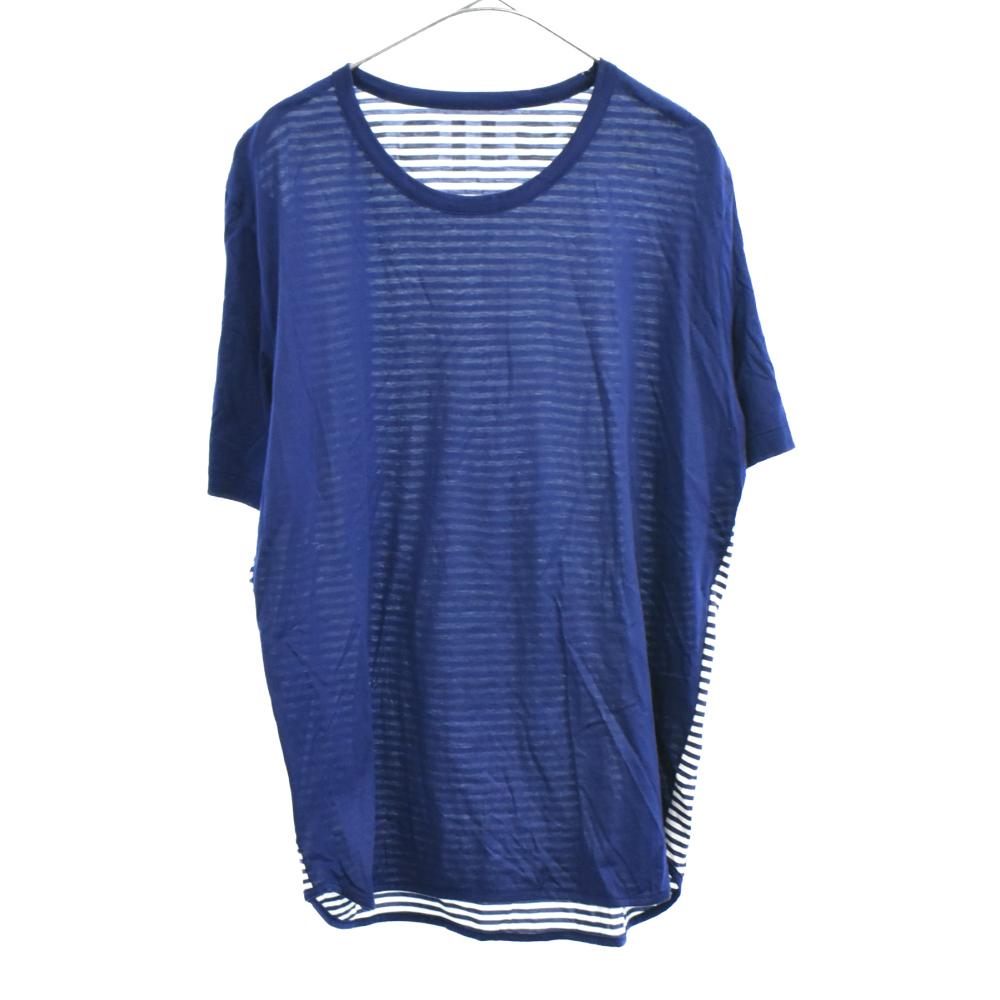 バックボーダー切替半袖Tシャツ