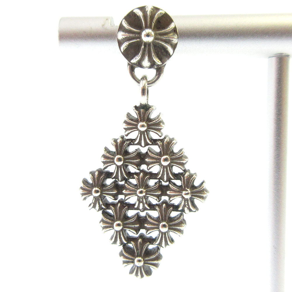 CH Chain Maille Earring チェーンメイルシーエイチプラスイヤリング クロス ピアス クロスボール