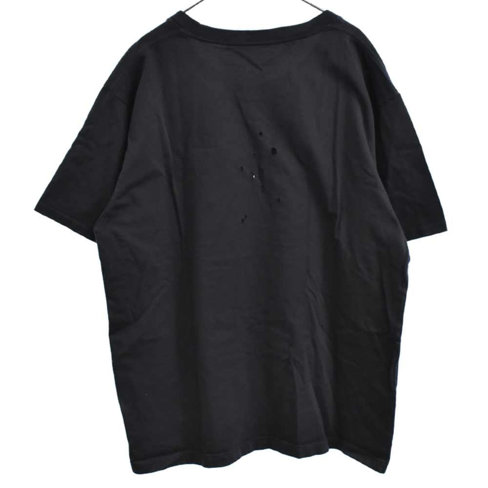 ダメージ加工ボックスロゴTシャツ