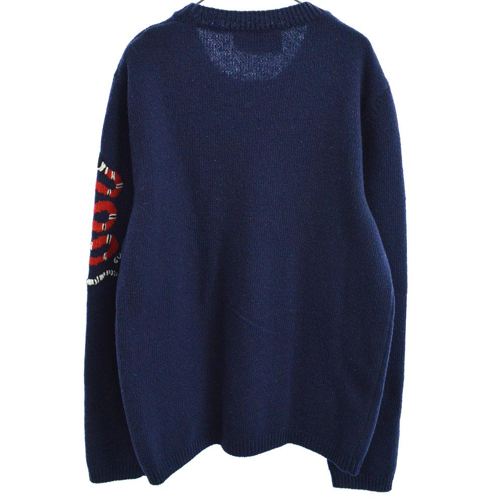 アームスネーク刺繍ウールニットセーター SNAKESLEEVE SWEATER 522645