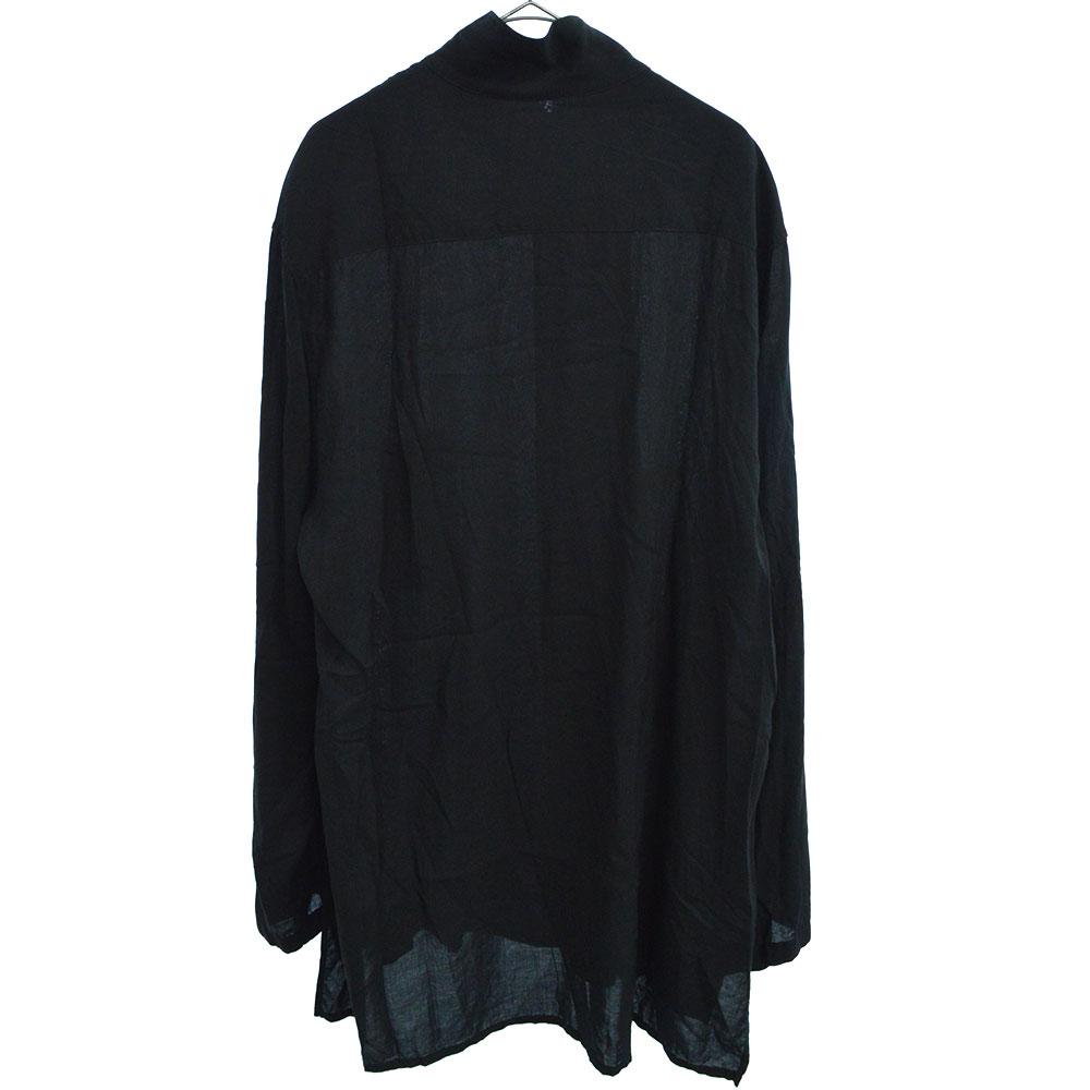 BLACK SCANDAL I-組み紐釦付きレーヨンブラウス 長袖シャツ チャイナシャツ HH-B16-248