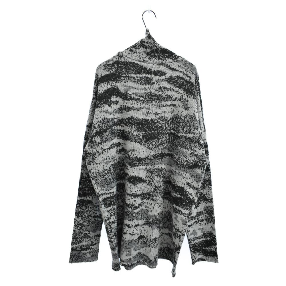 VIRGINIA CREEPER期 ノイズ迷彩柄オーバーサイズタートルネックニットセーター