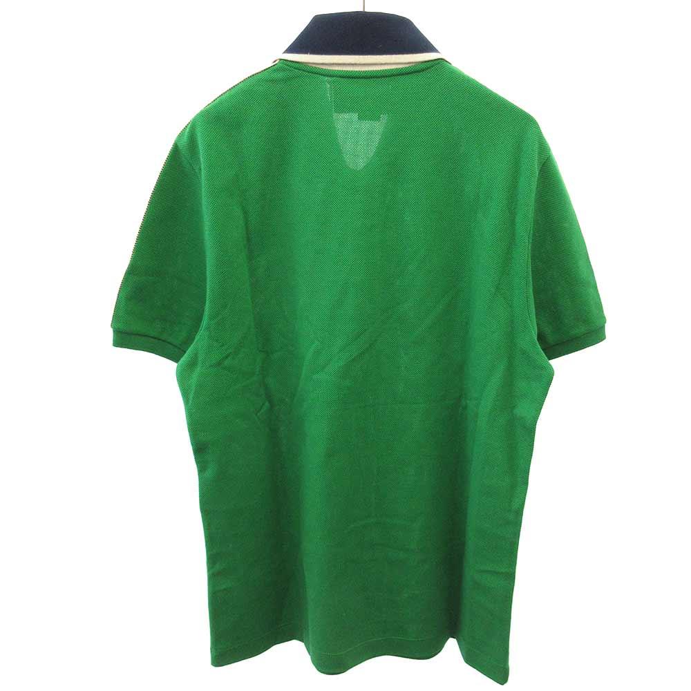 Stretch Cotton Piquet Poloショルダーラインデザイン半袖ポロシャツ