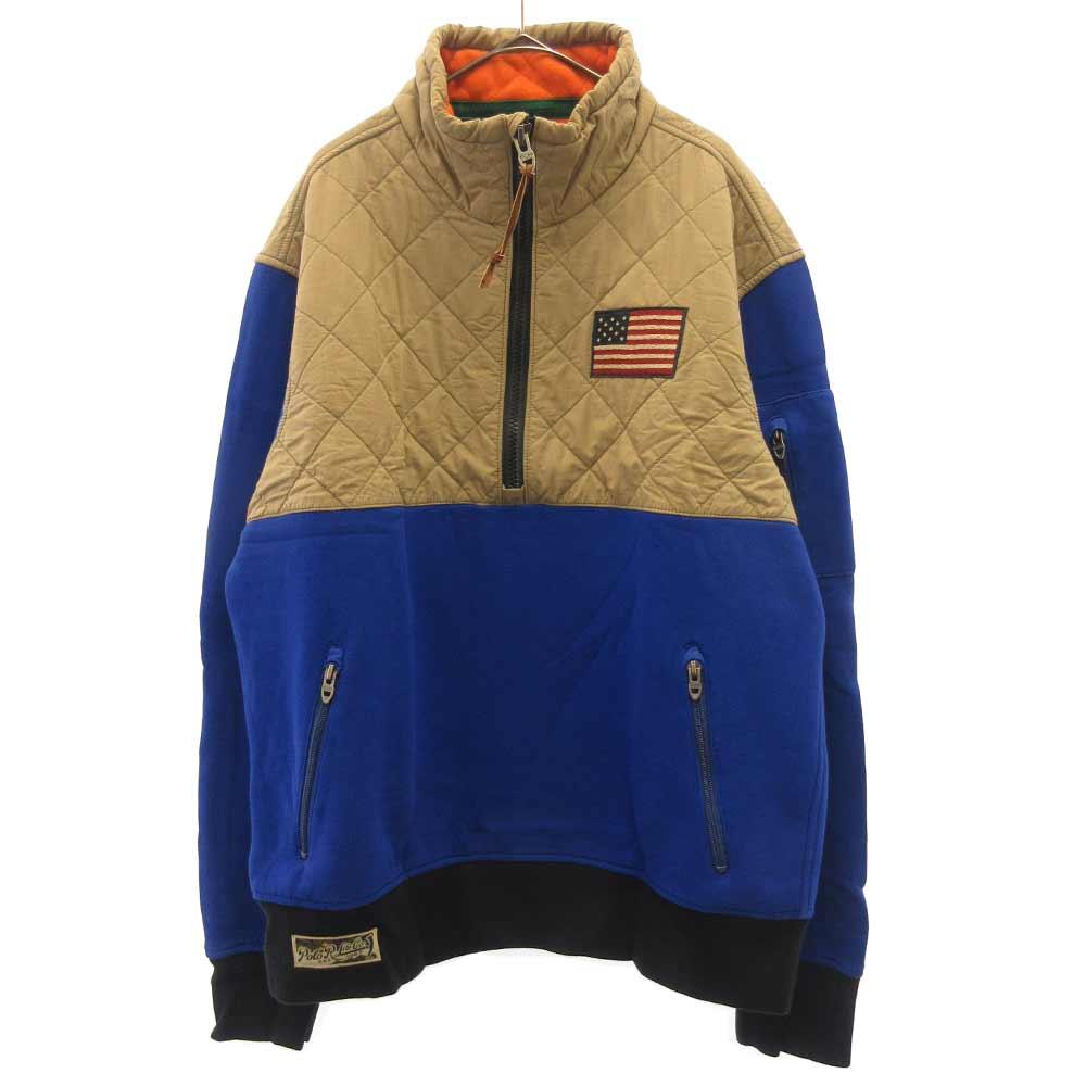 星条旗刺繍キルティングアノラックジャケット