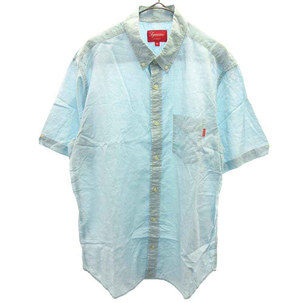 コットンボタンダウン半袖シャツ