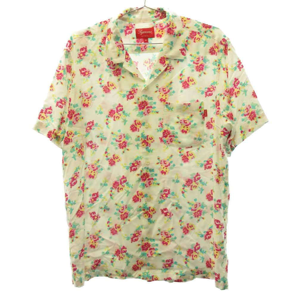 Floral Rayon S/S Shirt フローラル総柄 レーヨン半袖シャツ 花柄