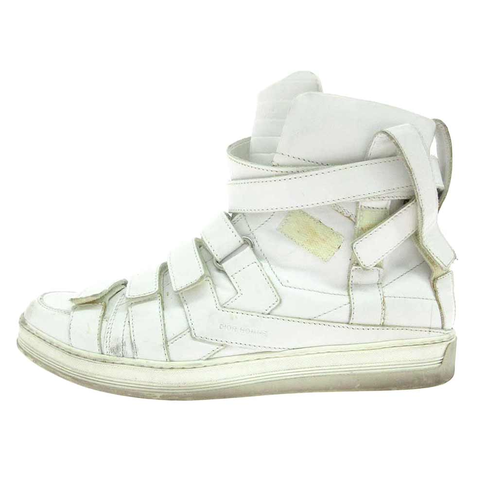 LEATHER HIGH TRAINERS SNKC3047ベルクロハイカットレザースニーカー