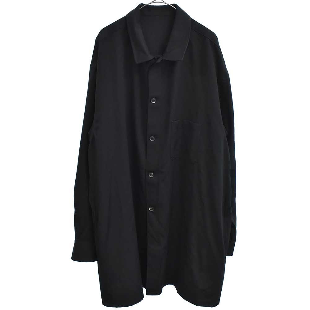ウールギャバジントッパーシャツジャケット
