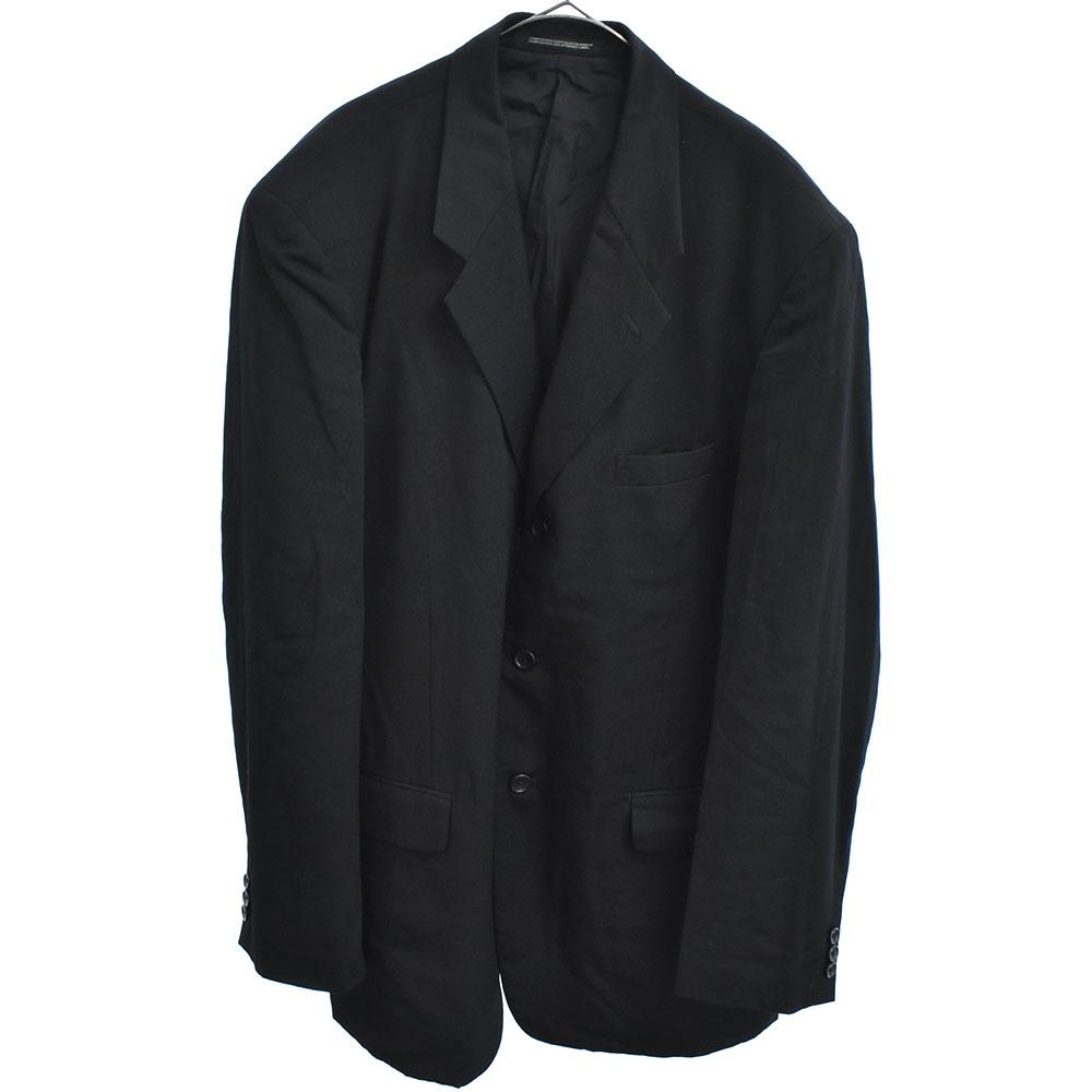 ウールギャバジンセットアップスーツ 4Bジャケット 2タックワイドスラックスパンツ