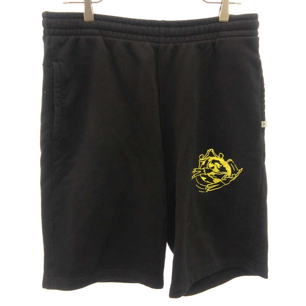Multi Symbols bermuda shorts プリント デザイン ハーフパンツ ショートパンツ