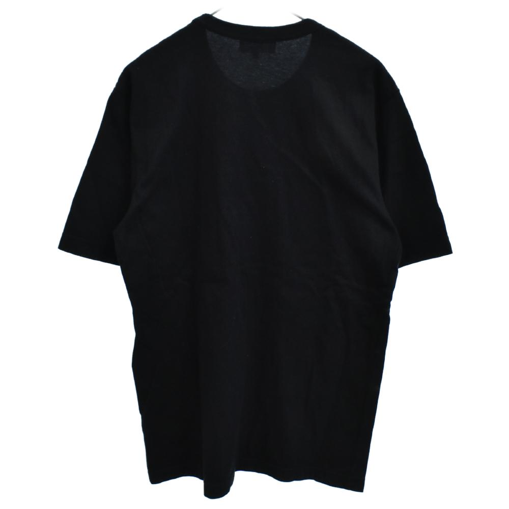 ストライプ柄ロゴパッチ半袖Tシャツ