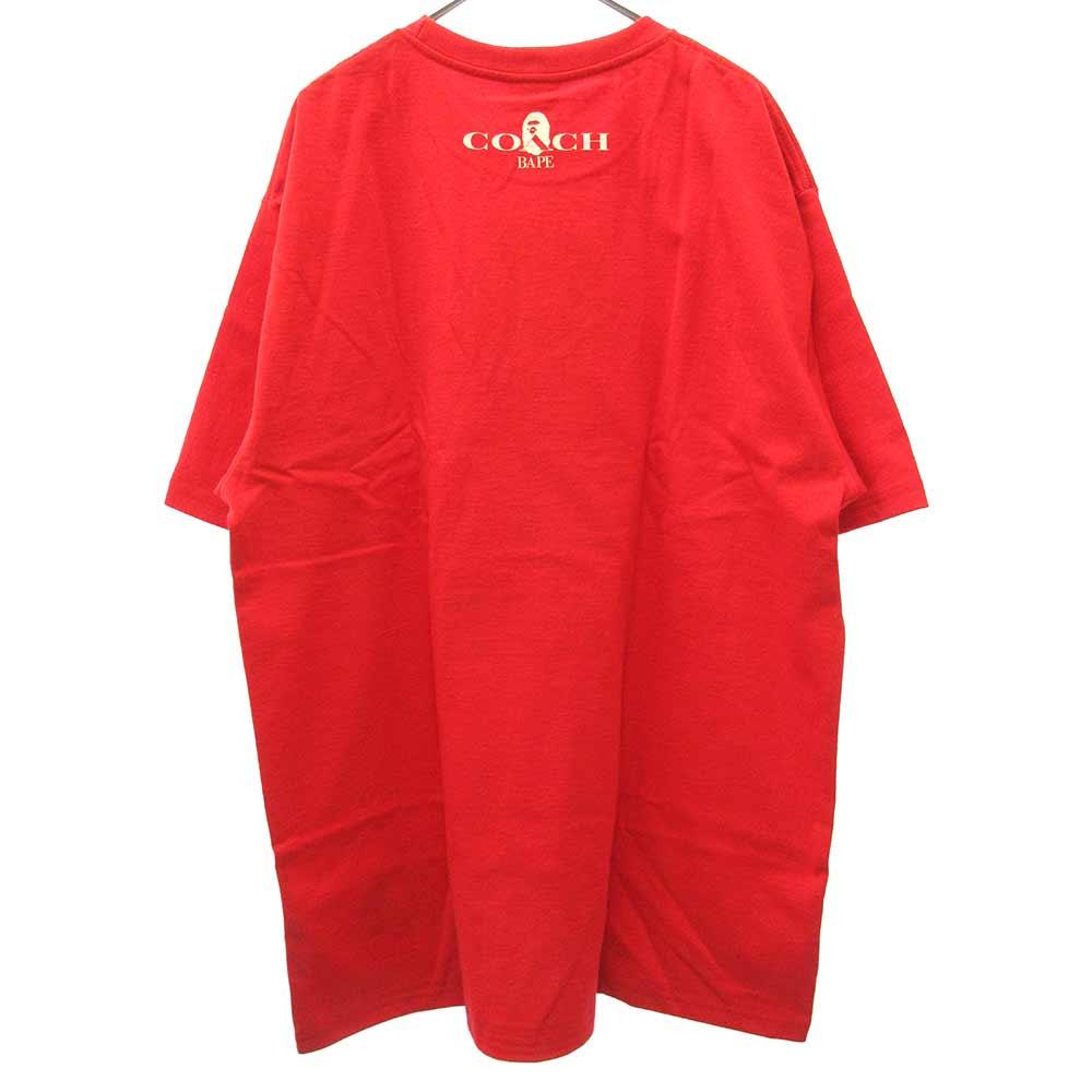 ×COACH コーチロゴプリント半袖Tシャツ