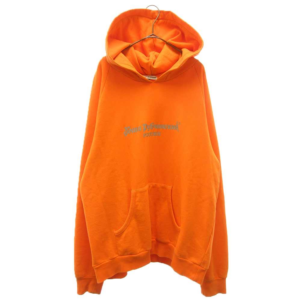 Logo sweatshirts フロントロゴプリント プルオーバーパーカー