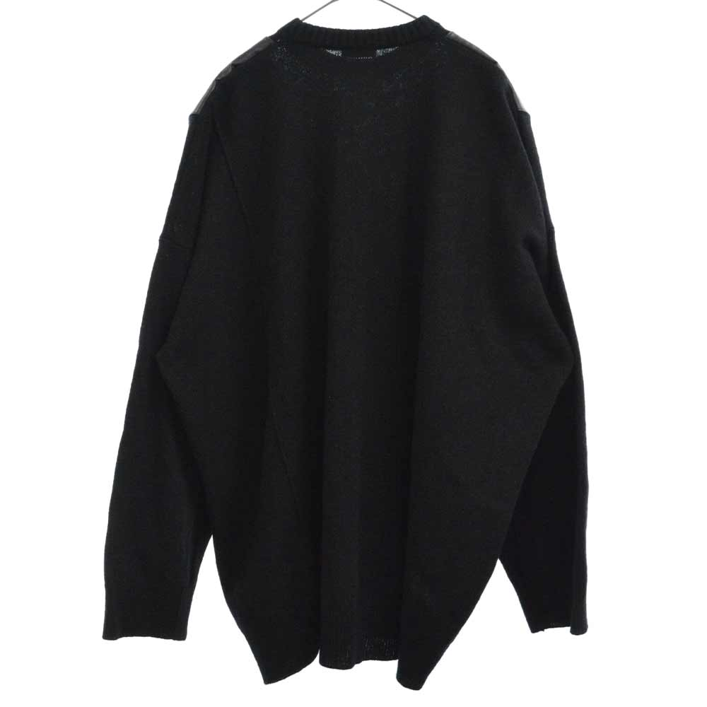 ×DAVID LYNCH Oversized sweater with printed shoulder Patches デヴィッドリンチニットセーター
