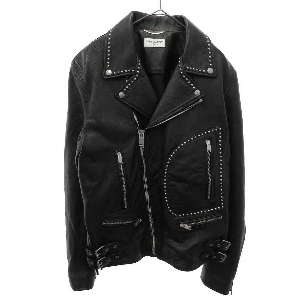 SEQUINS LEATHER JACKET ライダースジャケット