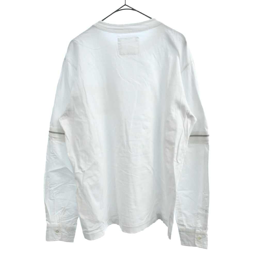 ジップスリーブロングTシャツ
