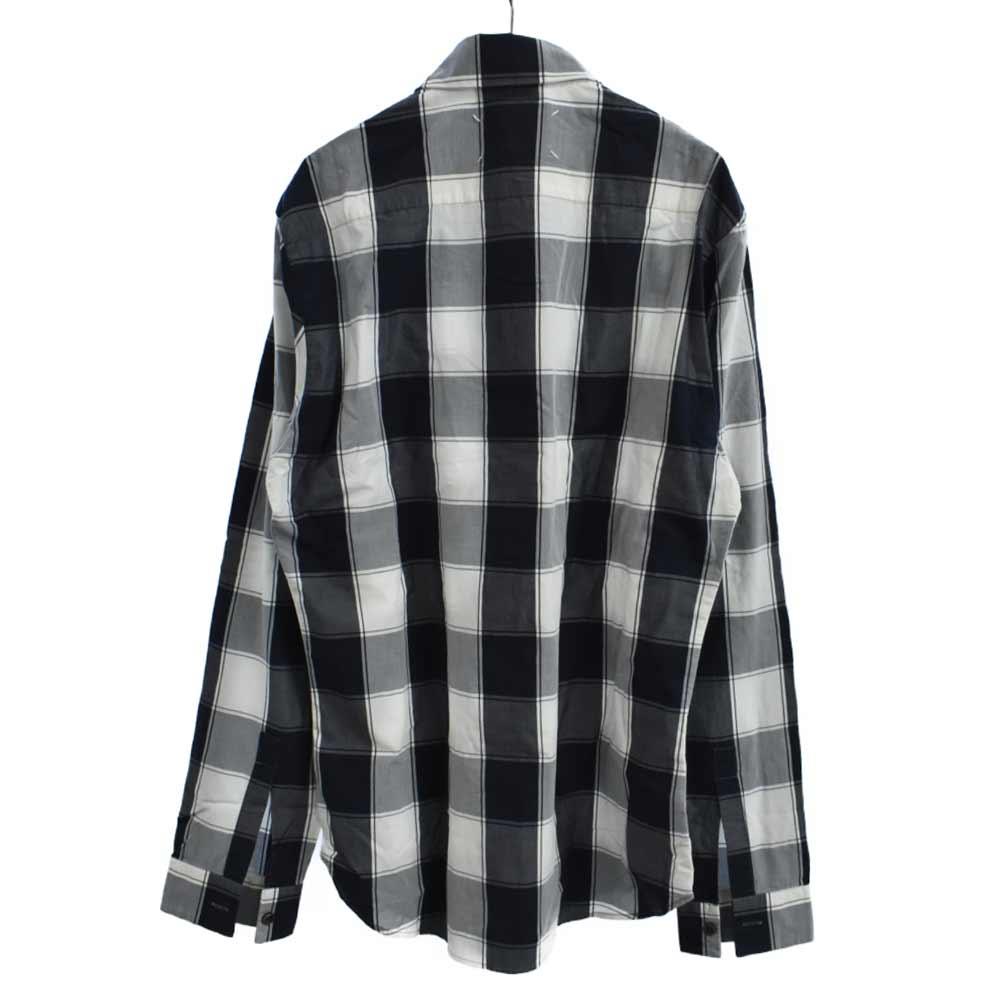 スタンダードチェック柄長袖シャツ