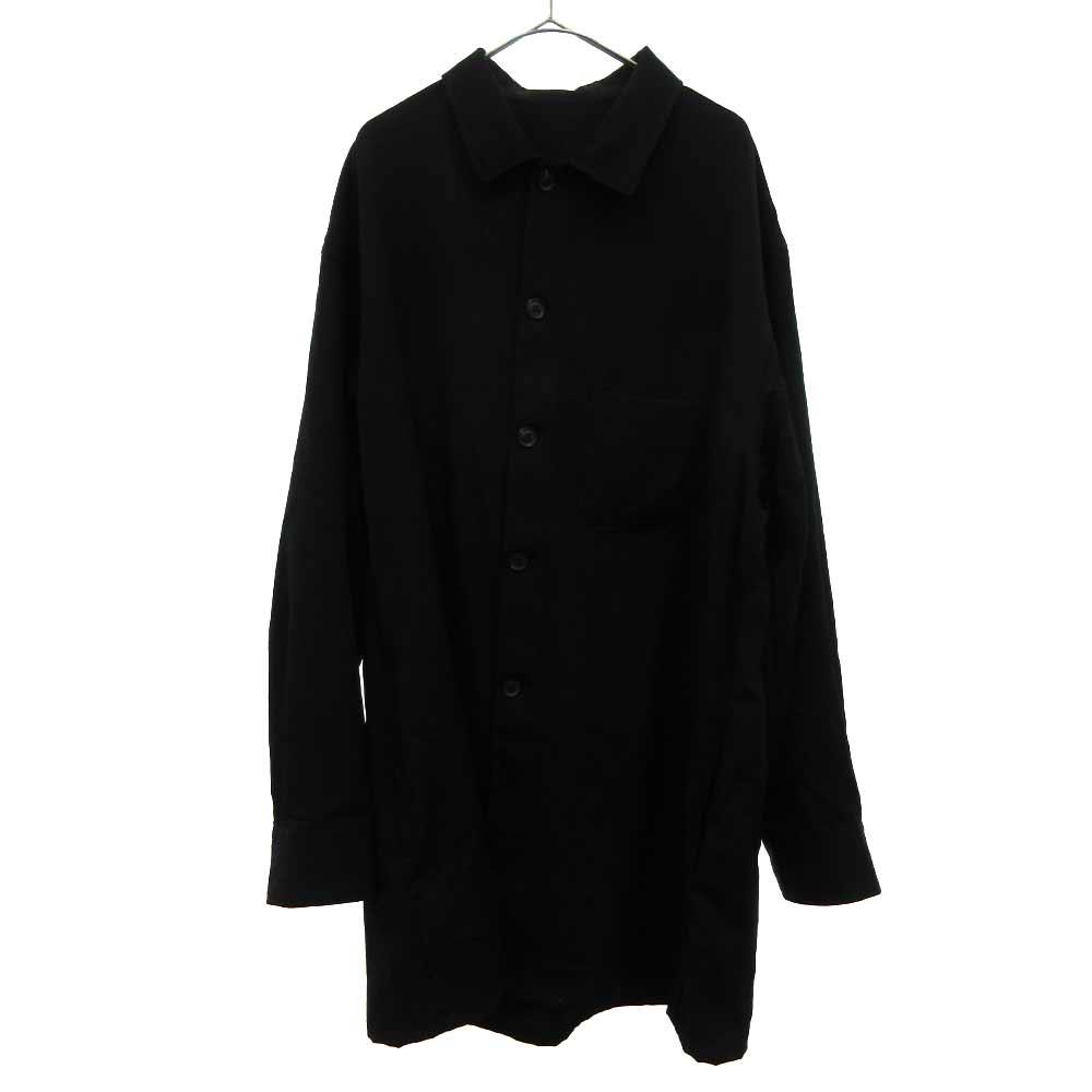 ウールギャバジントッパーシャツジャケット  ウールシャツコート