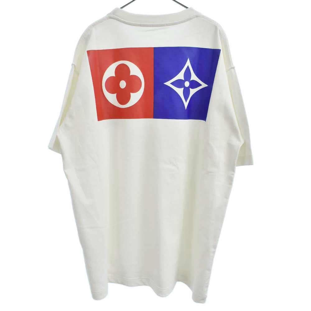 Back Flower Print Tee Shirt バックフラワーロゴプリントオーバーサイズ半袖Tシャツ