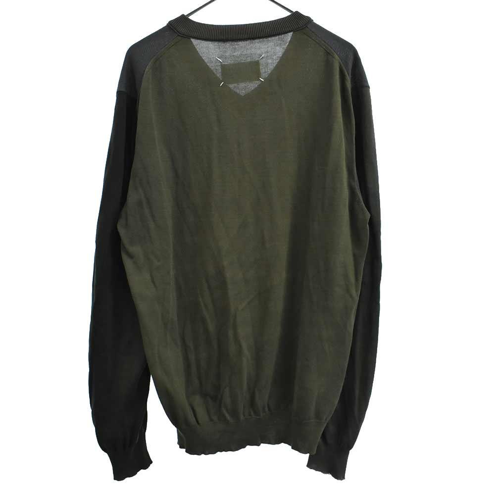 マルチカラーブロッキングニットセーター