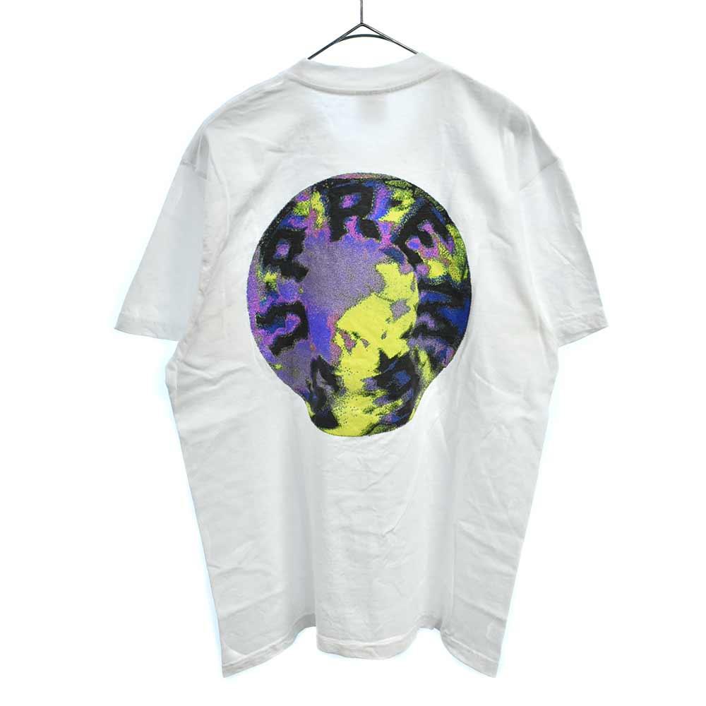Marble Tee サークルロゴマーブルプリント半袖Tシャツ
