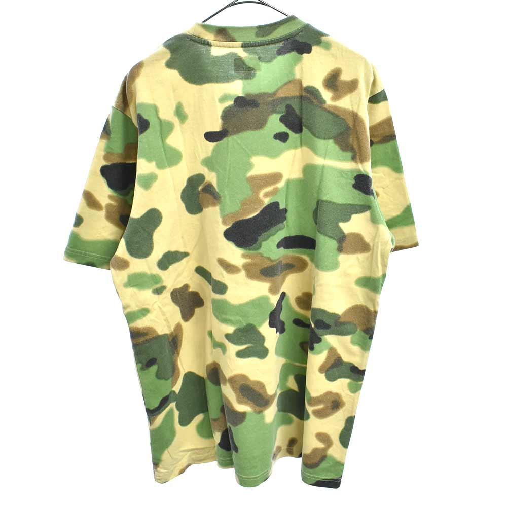 Overdyed Pocket Tee 胸ポケットクラシックロゴ刺繍カモフラ半袖Tシャツ