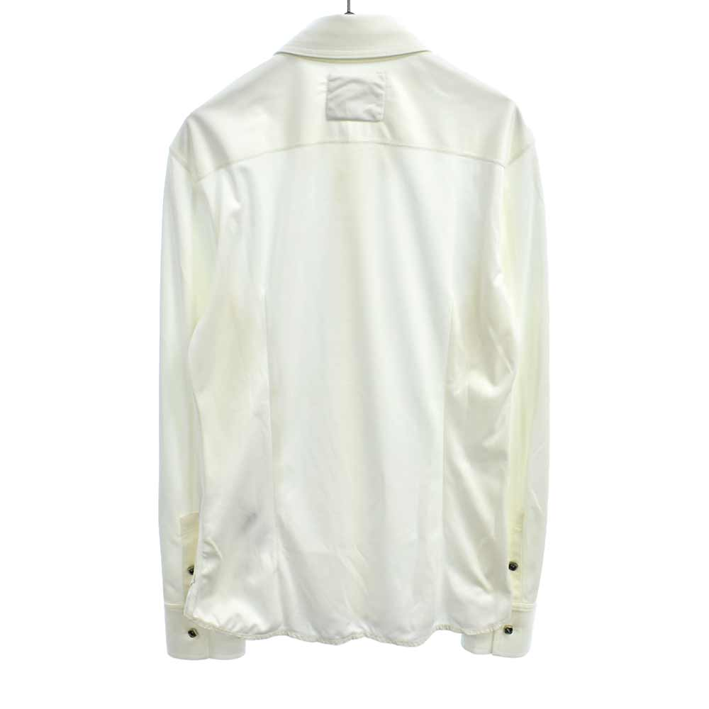 シワ加工長袖シャツ